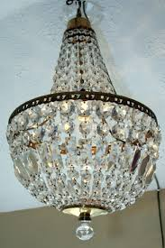 mid 20th century tent bag glass chandelier