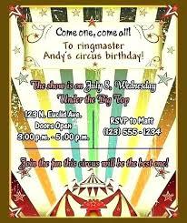 Free Printable Carnival Themed Invitations Circus Birthday