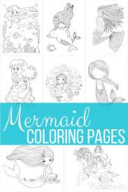 Mermaid and wreath coloring book page. 57 Mermaid Coloring Pages Free Printable Pdfs