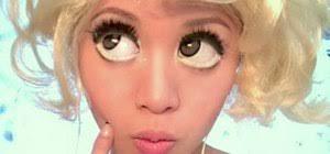 get lady a s bad romance big eye makeup look