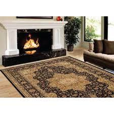 home dynamix majestic black 9 ft x 12 ft area rug