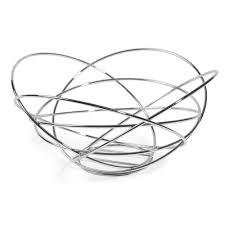 metal fruit bowl in chrome finish  maisons du monde