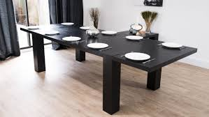 free black round extendable dining table 11