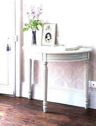 half moon console table with drawer half circle end table half circle console table half circle