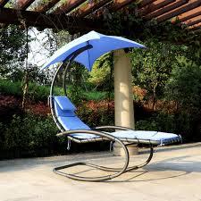 ikayaa rocking outdoor patio chaise lounge chair
