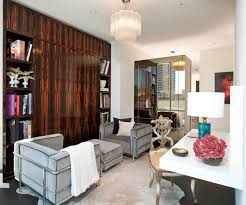 deco office. Trendy Built-in Desk Home Office Photo In Dallas With White Walls Deco