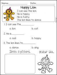 Kids. free reading worksheets for kindergarten: Worksheets ...