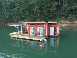 Floating House Plans A Small Off Grid Floating Home On Fontana Lake In Almond North