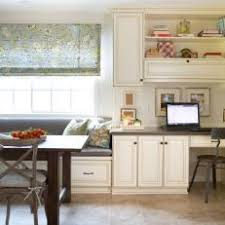 office in kitchen. Cottage Kitchen With Cozy Home Office In E