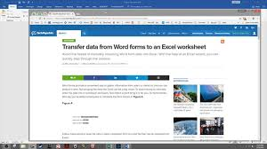 Excel Word How To Transfer Data From Word Forms To An Excel Worksheet