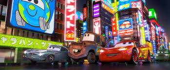 lightning mcqueen is a side story in the sequel his ability to compete in the world grand prix is undercut by the antics of mater