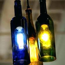 wine bottle pendant light loft painted glass chandelier decor personality making lights jug recycled