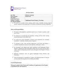Cook Helper Job Description Kitchen Resume Pastry Chef Template Jd