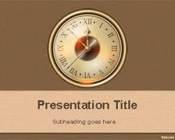 Free Old Clock Powerpoint Template