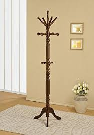 Traditional Dark Walnut Finish Wood Coat Rack Amazon Traditional Coat Rack with Spinning Top Kitchen Dining 9