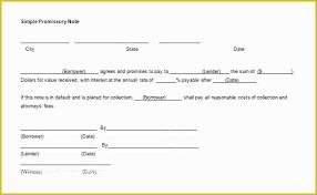 Promissory Note Templates Word Free Promissory Note Template Word Of Free Promissory Note