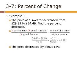 3 7 percent of change example 1