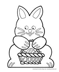Small Picture Easter Basket Coloring Pages Cutout Easter Bunny and Basket