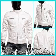 new mens white leather er jackets for men men s casual