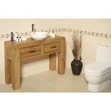 milan rustic oak bathroom vanity unit
