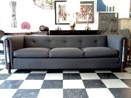 grey mid century couch