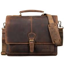stilord francis small leather briefcase men