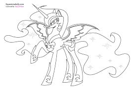Mlp Printable Coloring Pages Princess Celestia