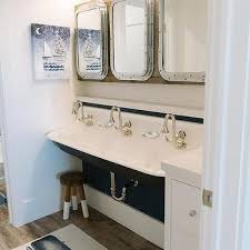 trough sink with 3 faucets design ideas