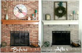 excellent whitewash brick fireplace before and after whitewash brick fireplace