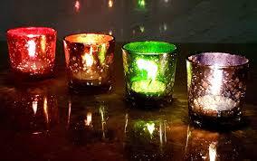 Esplanade Tea Light Holders Tealight Candles Holders Christmas Festival Lights Smaller Set Of 4