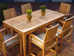 Unique Wooden Outdoor Table Wooden Outdoor Furniture To Enjoy The