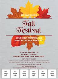 Fall Flyer Fall Simple Image Flyer