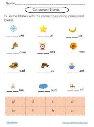 Journey into reading {88 sight word worksheets} distance learning. Consonant Blends Phonics Worksheets The Edumonitor