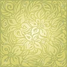 Green Floral Vintage Wallpaper Vector ...