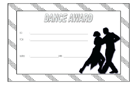 Dance Award Certificate Dance Certificate Templates And Award Template Team