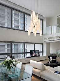 contemporary living room chandelier modern two story great room chandelier
