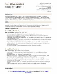 Office Position Resume Front Office Assistant Resume Samples Qwikresume