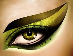 how to draw cat eye makeup