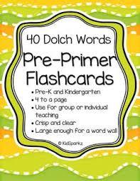 Sight Word Activities Pre Primer Level Kidsparkz
