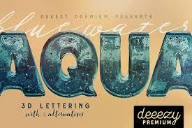 aqua 3d lettering exle image 1