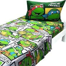teenage mutant ninja turtles bedding boys green bedroom bed twin sheets set nickelodeon full size turtle