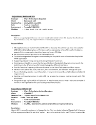 6 - People Soft Consultant Resume