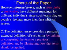 extended definition essay ppt  18 focus