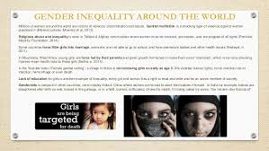 gender inequality presentation gender inequality