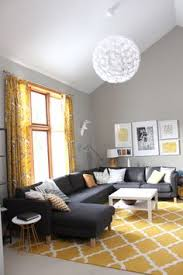yellow and gray bedroom: lighter walls darker pieces like the couch and pops of yellow i like this idea sherwin williams mindful gray tall ceilings