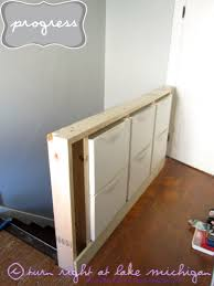 Slim Shoe Cabinet Our New Pony Wall With Built In Storage Using Ikea Trones Mines