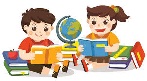 two small kids holding open books and reading isolated vector stock vector