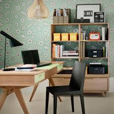 home office shelving ideas. Transparent Wood Storage Unit And A Cool Wallpaper Behind Is Nice Decor Idea. Home Office Shelving Ideas E