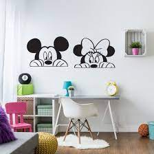 wall chimp mickey minnie mouse wall