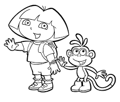Dora Printable Coloring Pages Say Stop | Cartoon Coloring pages of ...